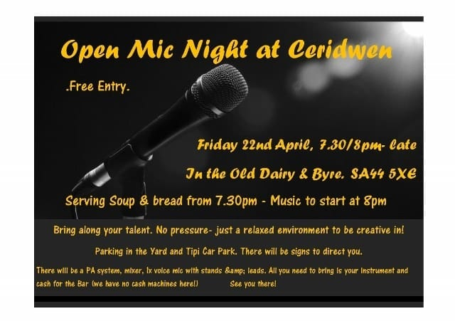 Open Mic Night, 22nd April