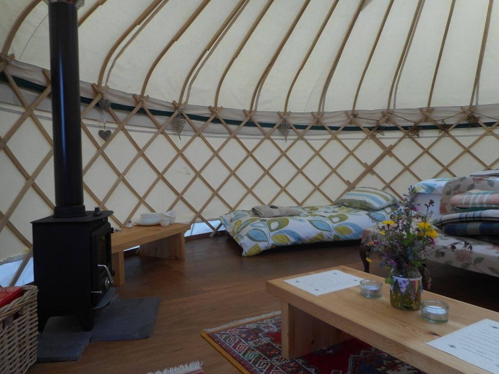 bryn Helyg yurt fire
