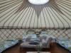 Bryn Helyg Yurt set up as 4 singles