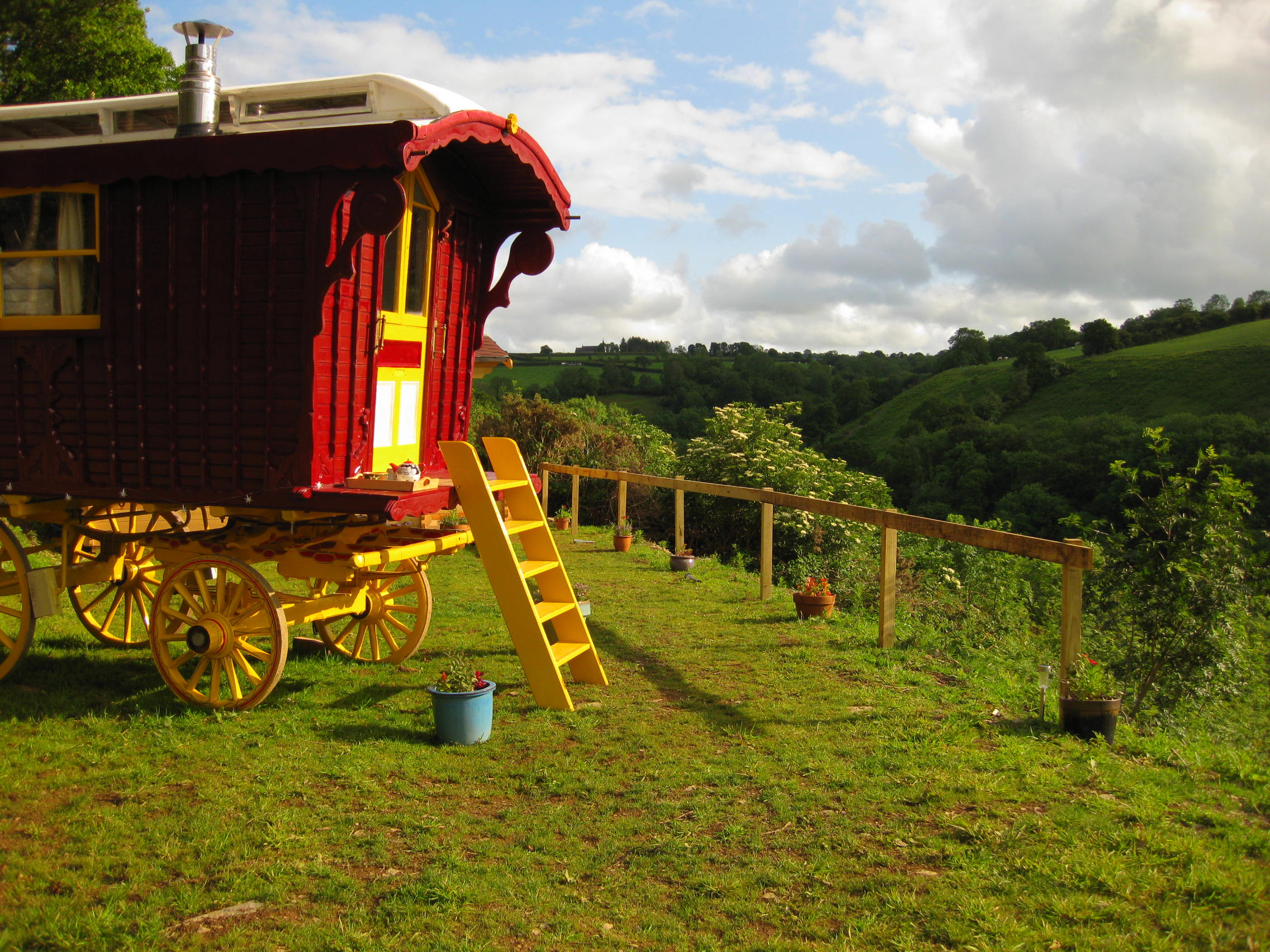 Gypsy Caravan and view beyond