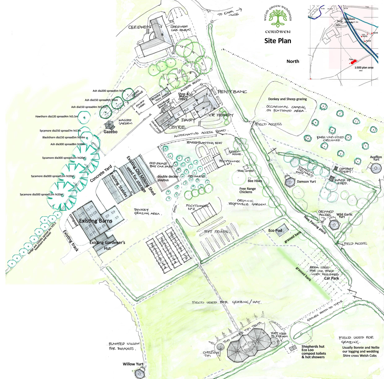 Site Plan of the Canolfan Ceridwen Centre