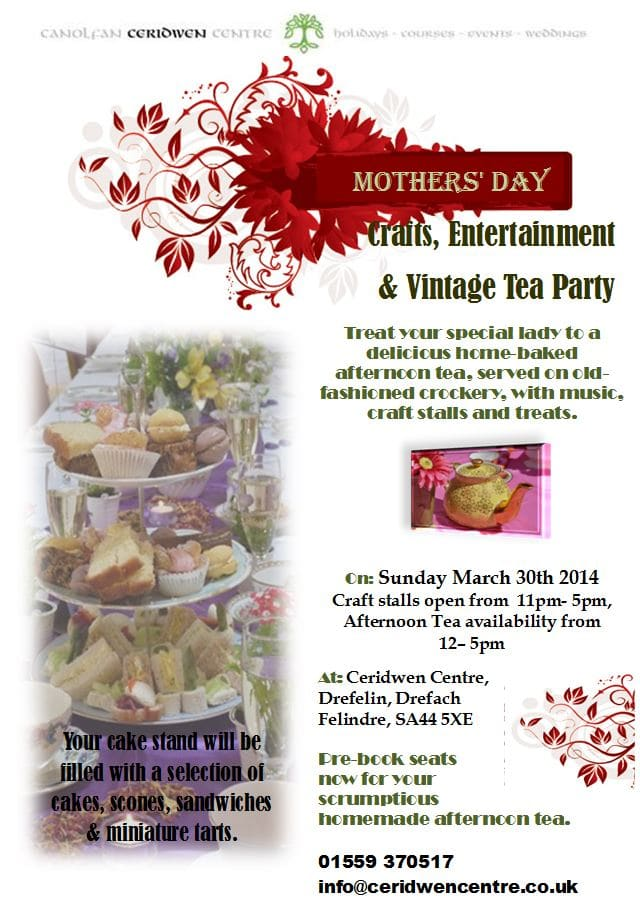Mothers Day Crafts, Entertainment & Vintage Tea Party