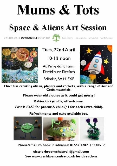 Mums and Tots- Space & Aliens Arts & Craft