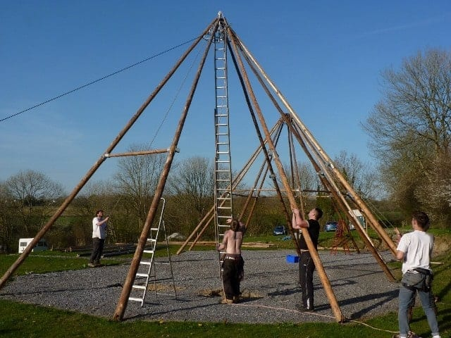 Our Tipi is going up…