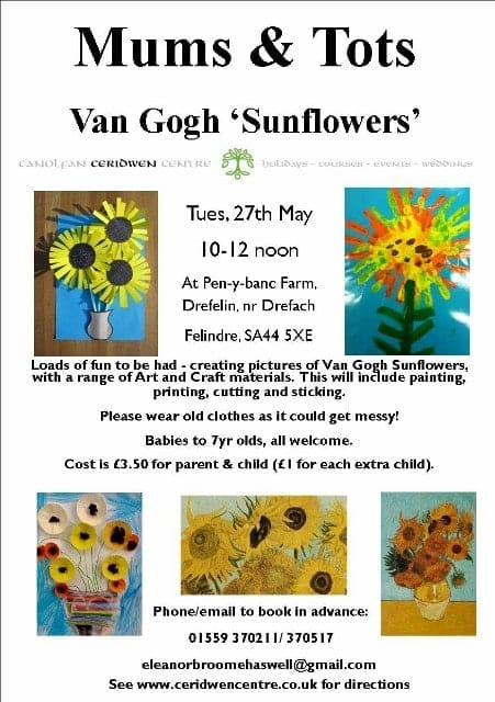 Mums & Tots- Van Gogh Sunflowers