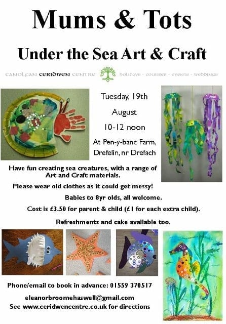 Mums & Tots- Under the Sea Arts & Craft!