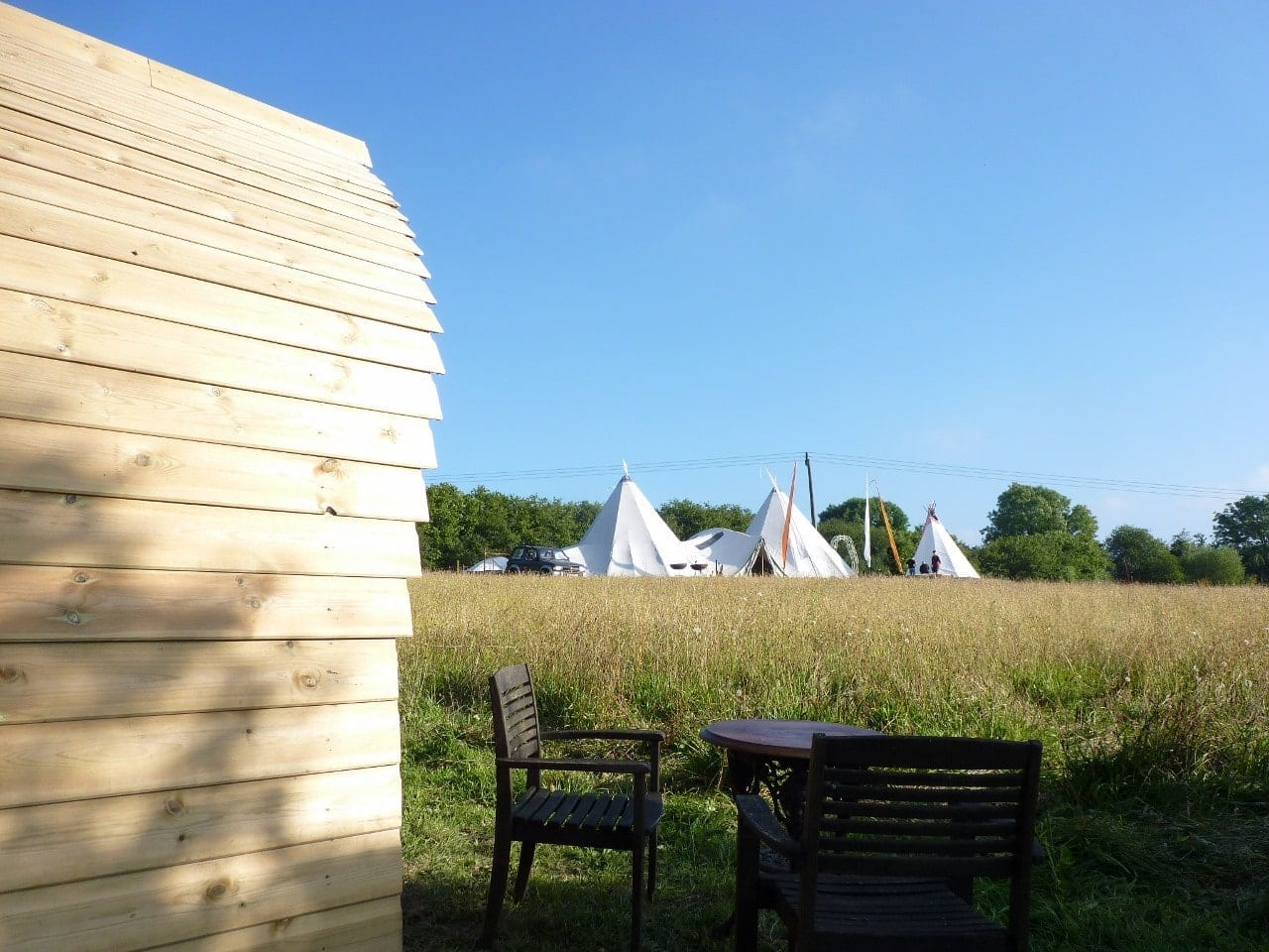 View of the Tipi from the eco pod