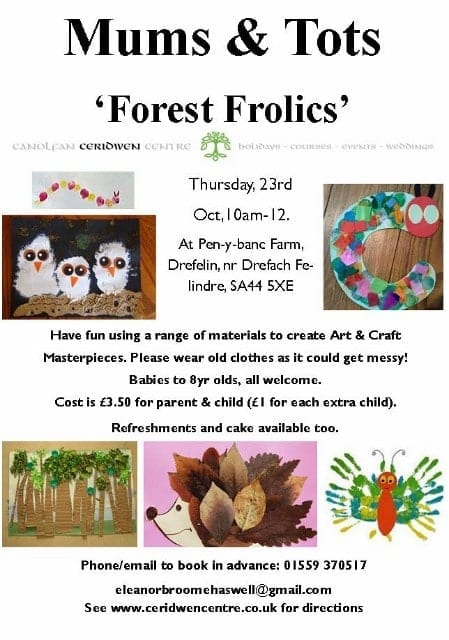 Mums & Tots October- Forest Theme