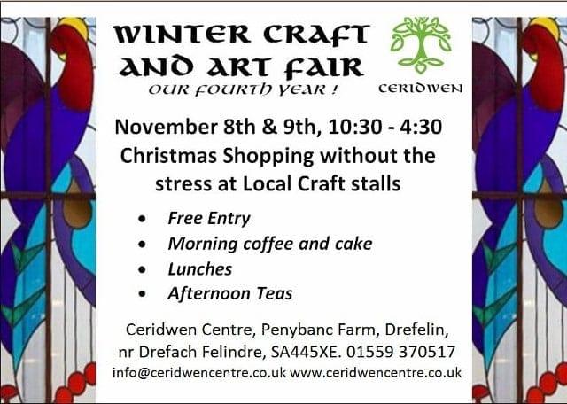 Winter Craft Fair, 8th & 9th Nov