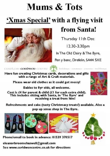 Parent & Tots Art & Craft, with a visit from Santa!