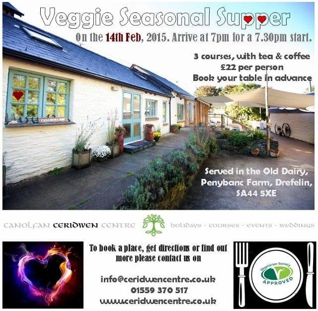 Veggie Seasonal Supper, Feb 14th- taking bookings now…..