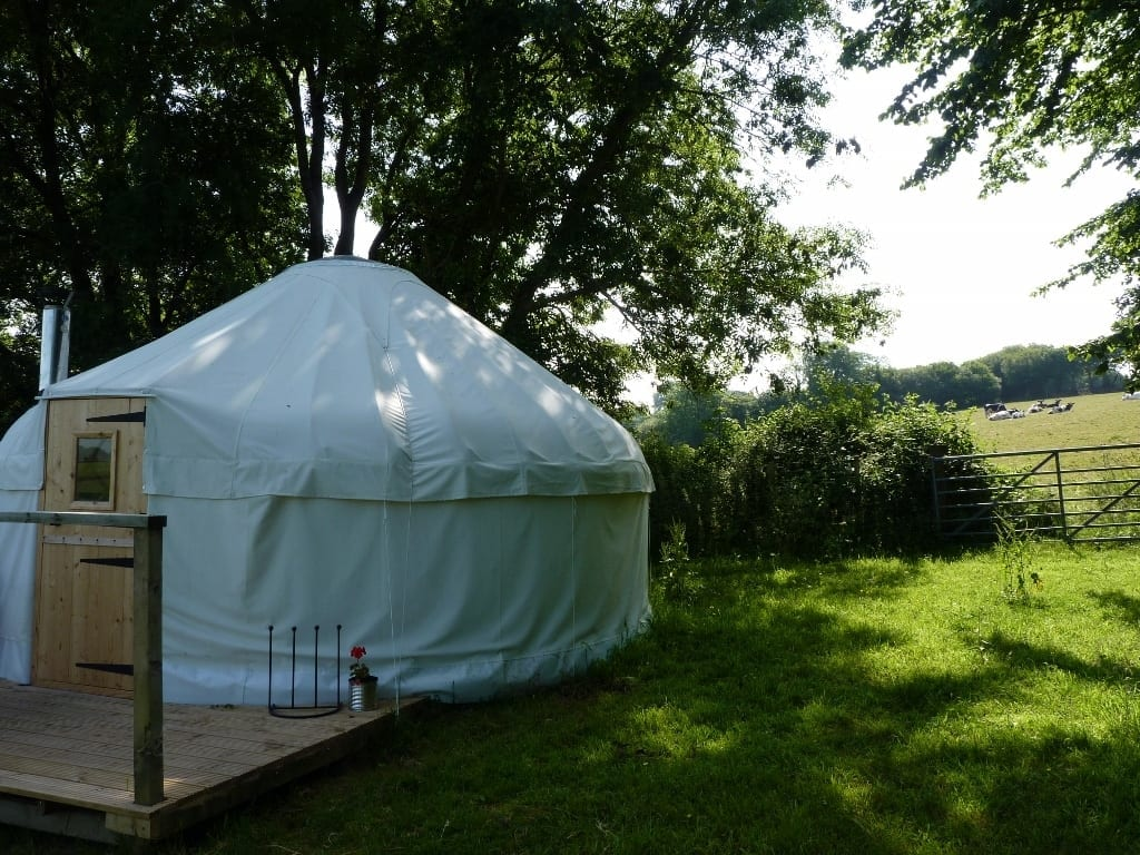 View of one of the Yurts