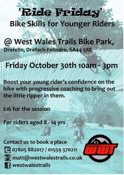 Bike park kids club flyer october