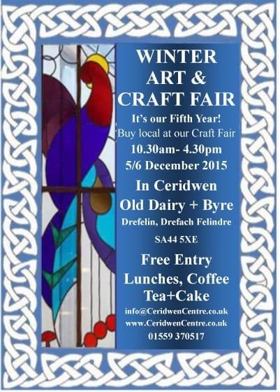 Winter Craft Fair 5/6 December
