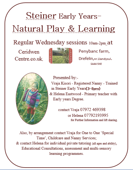 Steiner Play Sessions (0-6yrs)