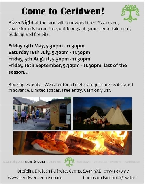 Next Pizza Nights- BOOK NOW- limited spaces!!!
