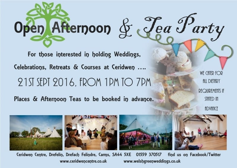 Open Afternoon & Tea Party!