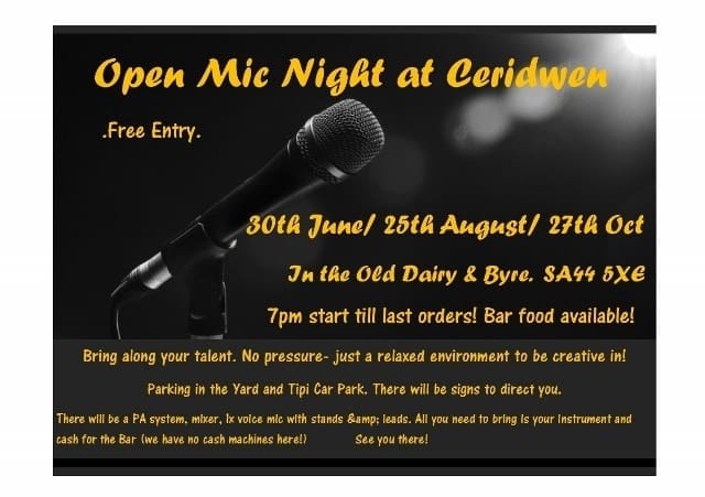 Open Mic night, this Thursday!