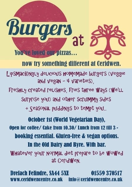 1st October- Lunch at Ceridwen !!
