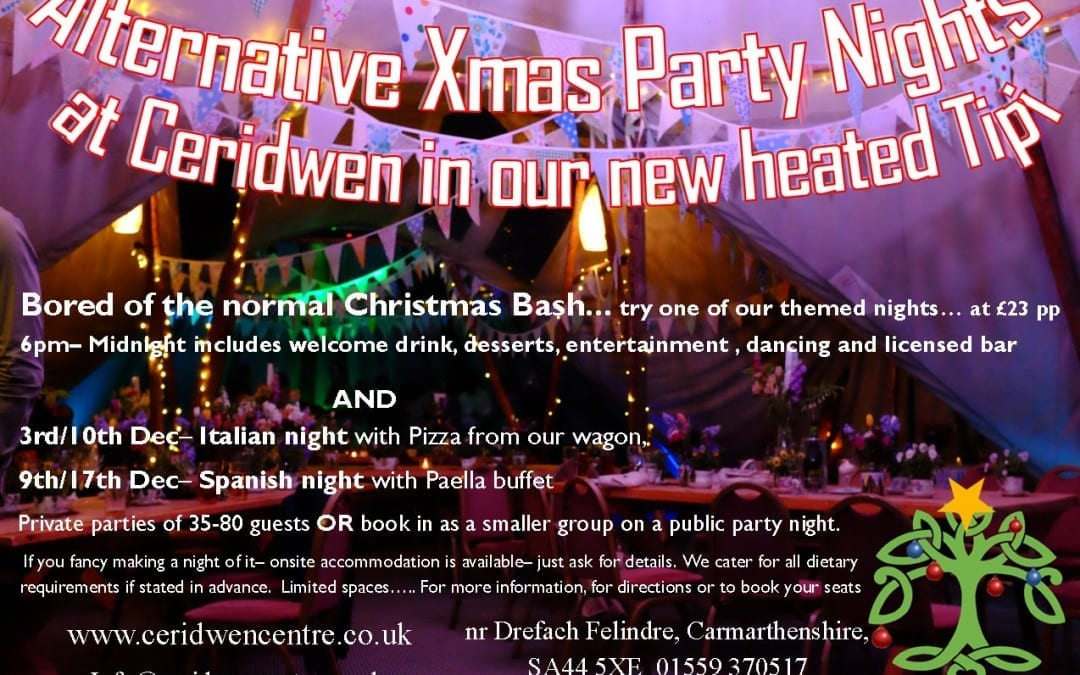 Alternative Festive Party nights in our Tipi!!