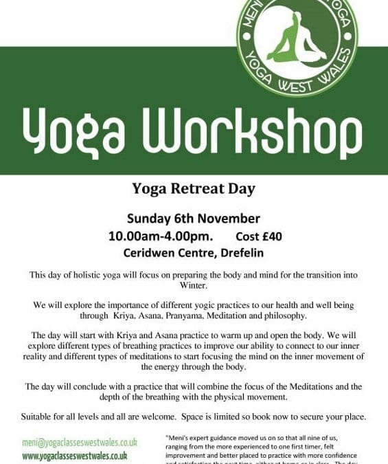 Yoga Retreat with Meni Farkash, 6th November