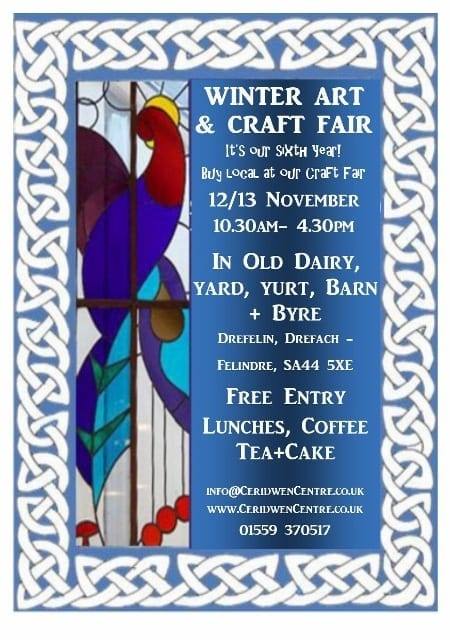 Stall spaces available for our Winter Craft fair, 12 & 13 Nov…