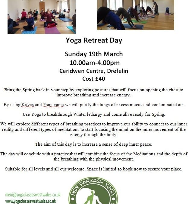 Yoga retreat day – Sun 19 Mar 10-4pm