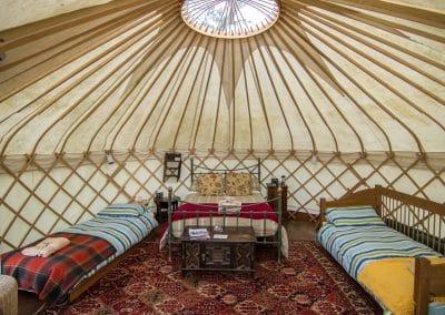 Afallon Yurt interior1