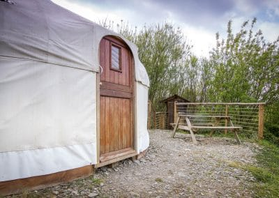 Bryn Helyg Yurt in Spring2