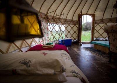 Bryn Helyg Yurt interior 4