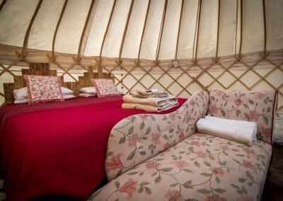 Bryn Helyg Yurt interior 6