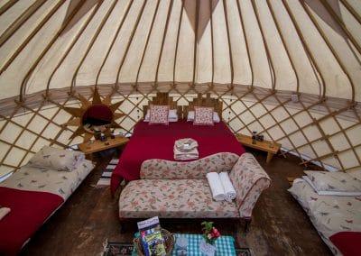Bryn Helyg Yurt interior 8