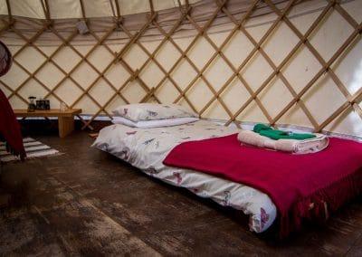 Bryn Helyg Yurt interior 9