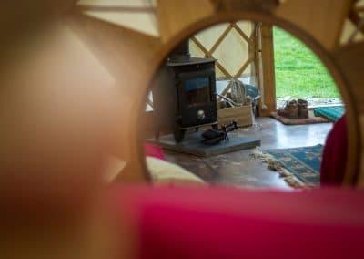 Bryn Helyg Yurt interior1