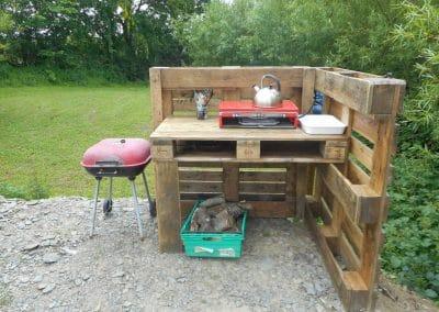 Bryn Helyg cooking area