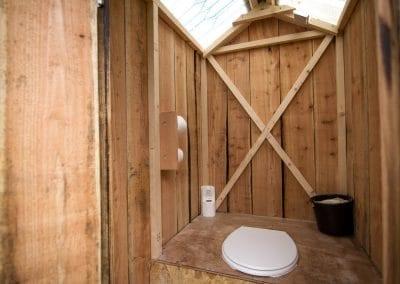 Damson yurt compost toilet