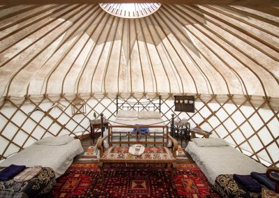 Damson yurt interior1
