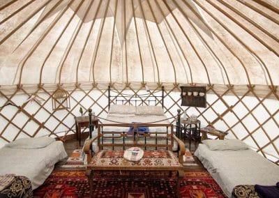 Damson yurt interior1