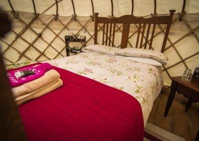 Derwen Yurt double bed