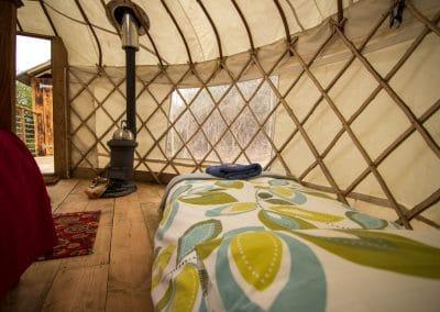 Derwen Yurt inside2