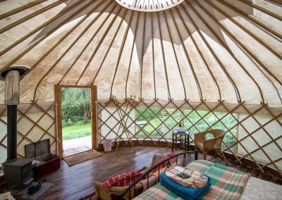 Wild Garlic Yurt interior 5