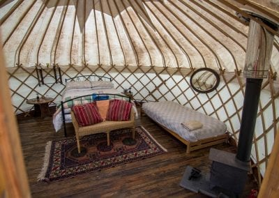 Wild Garlic Yurt interior1