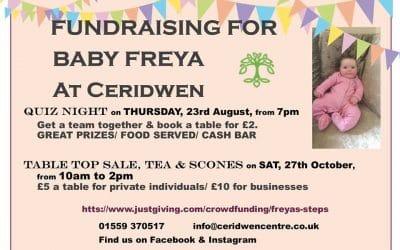 Table Top Sale, Tea & Scones – 27 Oct – Fundraising for Baby Freya