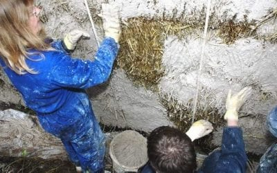 Volunteering opportunity: Lime rendering our straw bale wall