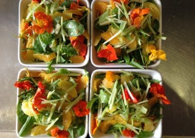 Orange and fennel salad with nasturtiums