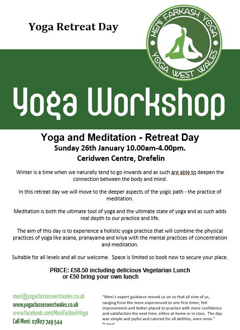 Yoga Retreat Day- with Meni Farkash- 26th Jan